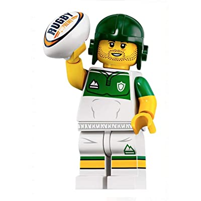 LEGO Minifigures Series 19 Rugby Player Minifigure with Ball 71025: Toys & Games