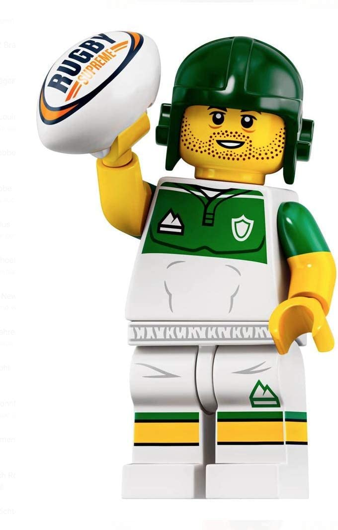 LEGO Minifigures Series 19 Rugby Player Minifigure with Ball 71025