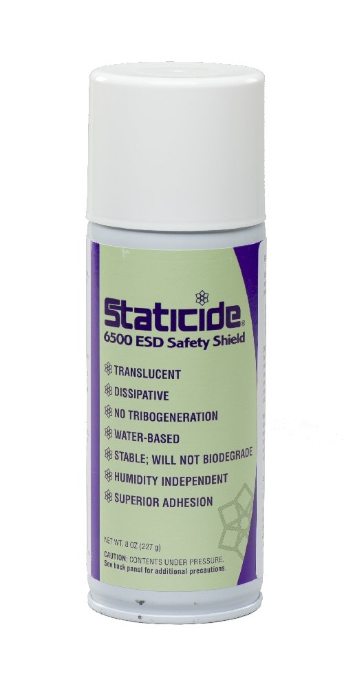 ACL Staticide 6500 ESD Safety Shield, 8 oz Aerosol Spray Can, Translucent