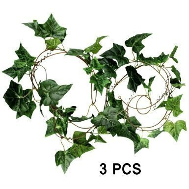 EQLEF® 275cm Efeu Efeuranke Kunstblumen künstliche Pflanze (3pcs)