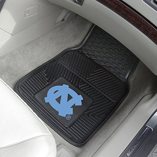 FANMATS NORTH CAROLINA TAR HEELS HEAVY DUTY 2-PIECE VINYL CAR MATS