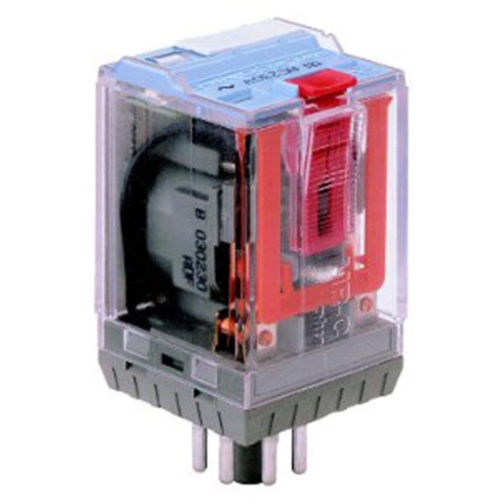 Relay; Releco MR-C; C2-A20X/DC12V; DPDT; 12VDC; 10A; 8 Pin Octal Base; w/LED, Pack of 2