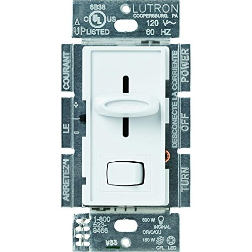 Lutron Skylark 150-Watt Single-Pole/3-Way Preset CFL-LED Dimmer SCL-153PR-WH ()