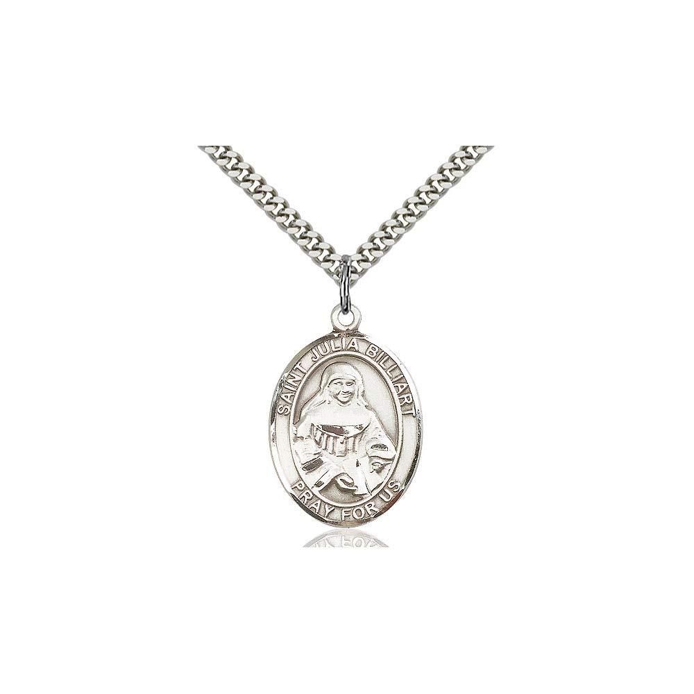 Julia Billiart Pendant DiamondJewelryNY Sterling Silver St