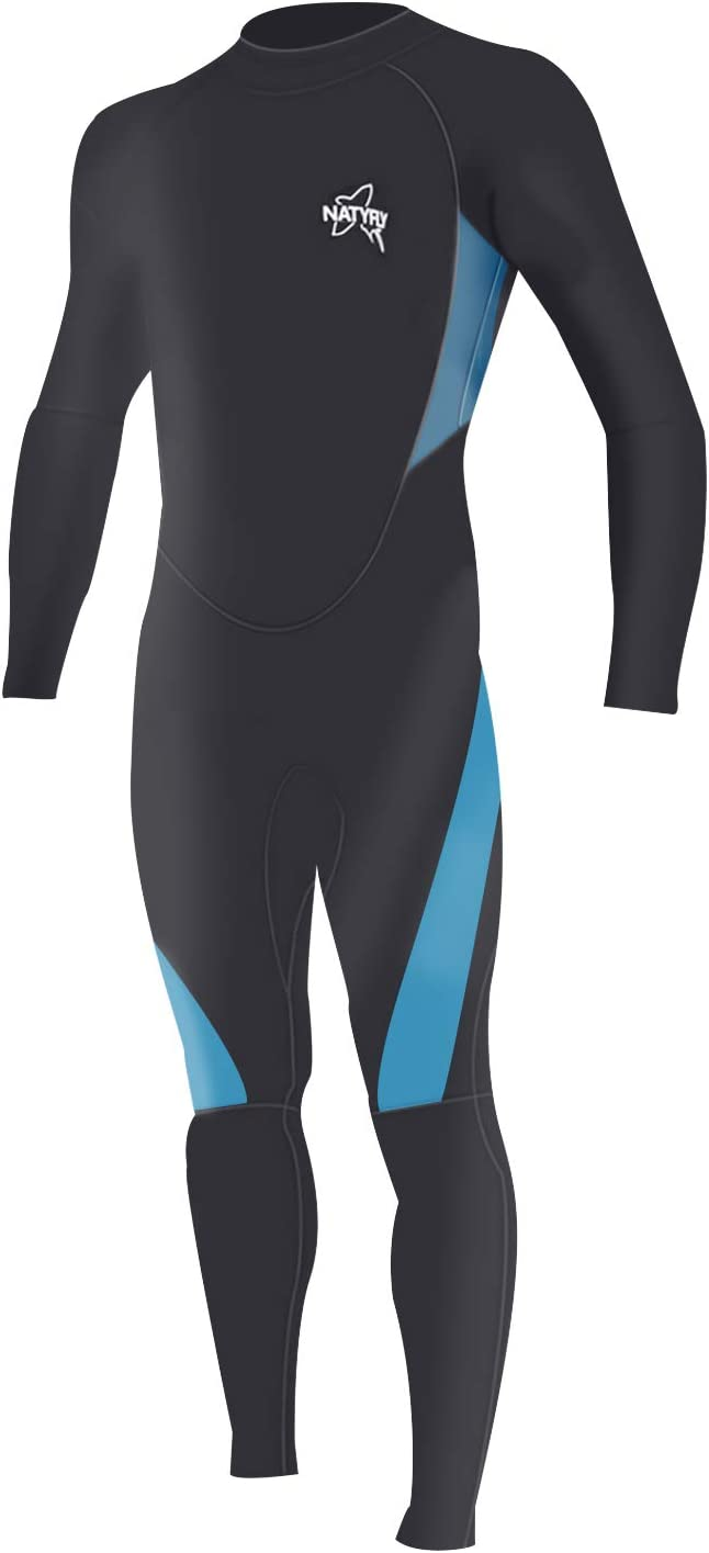 NATYFLY Wetsuit Men 3mm Neoprene Jumpsuit,Youth Women Full Body Suits for Scuba Diving Surfing Snorkeling Swimming