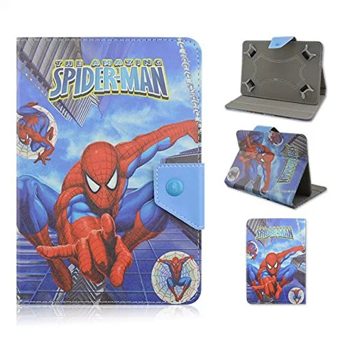 "9inch 10inch Universal Case--Christmas Gift Cartoon PU Leather Folio Stand Holder Case for All Universal 9"" 9.6"" 9.7""10.1"" 10.5"" Touchscreen Tablet PC, E-Book Readers,Galaxy Tab (10-Spiderman 2)"