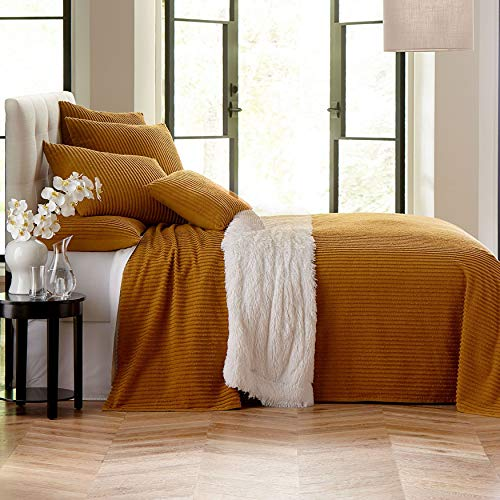 BrylaneHome Chenille Bedspread - Golden Amber, King