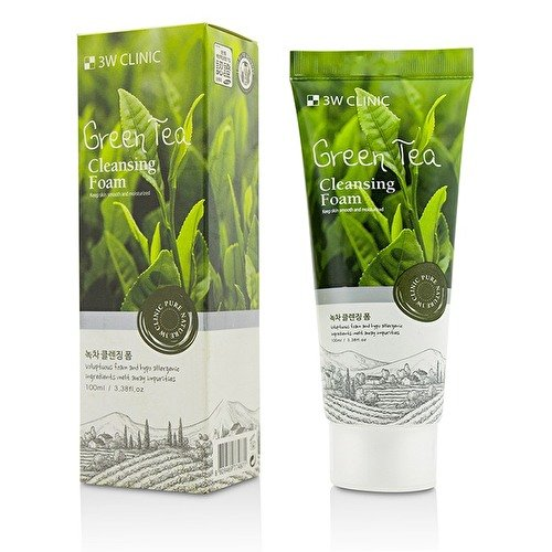 3Wクリニック Cleansing Foam - Green Tea 100ml B076M5WYZT