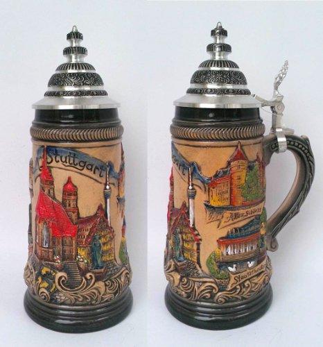 Stuttgart Beer - Zoeller and Born Panorama City of Stuttgart Stein | .5 Liter (Model 1838)