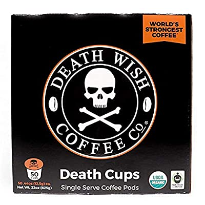 Death Wish Single Serve Capsules for Keurig K-Cup Style Brewing Systems from Death Wish Coffee Co.