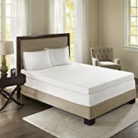 Sleep Philosophy Flexapedic Memory Foam Mattress Protector Cooling Bed Cover Queen White