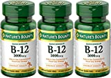 Nature's Bounty Vitamin B-12 5000 mcg, 40 Quick Dissolve Tablets (Pack of 3) For Sale