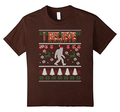 Kids Bigfoot Christmas Ugly Sweater
