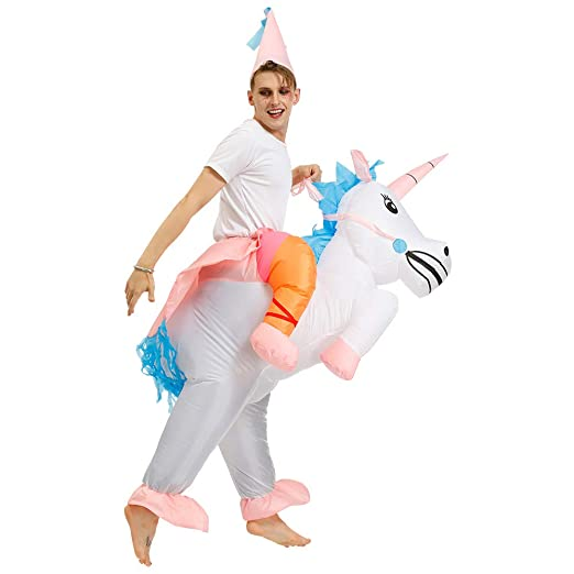 Lim Thee Disfraces Inflable de Unicornio Traje Hinchable ...
