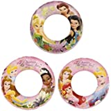 Disney Princess Swim Rings Set of 3 Swimming Pool Toys for Kids Disney Fairies & Disney