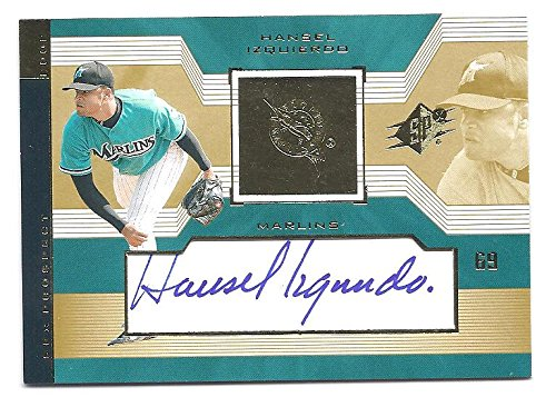 HANSEL IZQUIERDO 2002 SPX #135 AUTOGRAPH ROOKIE Card RC Florida Marlins Baseball