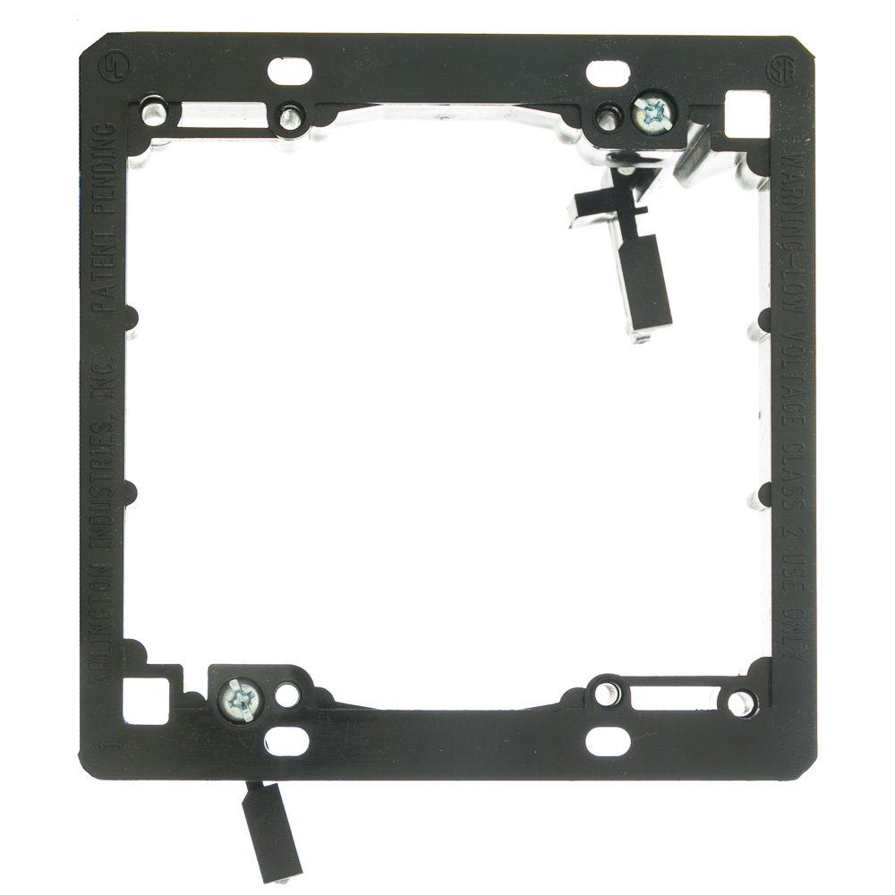Wall Plate Mounting Bracket, Nylon, Low Voltage, Dual Gang CW 3031-11200