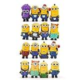 16pcs/set Despicable Me Minion Action Figures Toys Mini Purple Minions PVC Figures Puppets Model Toy Kids Toys Gift for Children