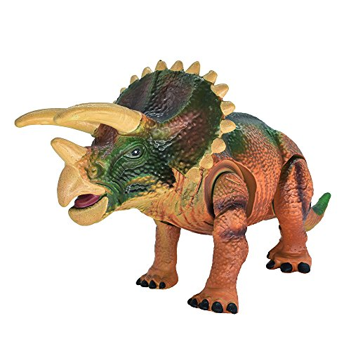 Dinosaur Toys  Arfbear  2017 Soft Tpr Material  Electric  Automatic Walking Realistic Sounds Life Like  Triceratops Dinosaur Toy For Kids