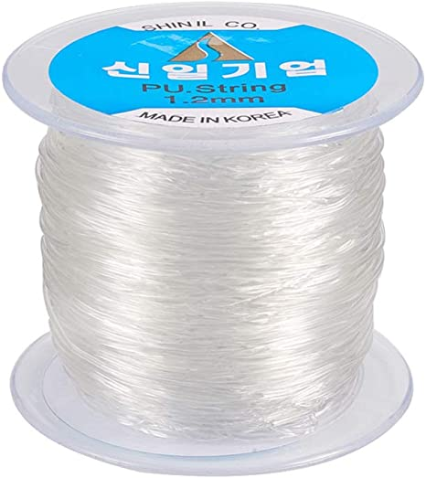 length approx 6 m A roll of crystal clear elastic cord//thread//wire 1.0 mm