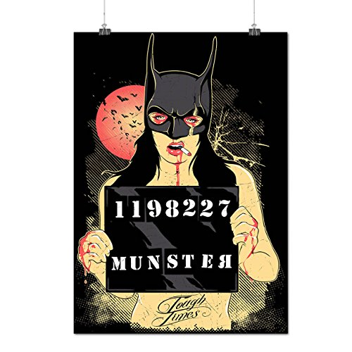 Bat Woman Crime Fight Munster Matte/Glossy Poster A4 (9x12 inches) | Wellcoda ()