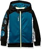 Reebok Little Boys' Active Hooded Zip Up Jacket, Baltic Blue, 6
