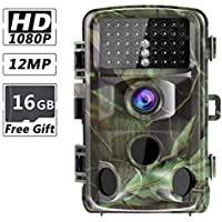 RUNACC 12MP 1080P Trail Camera High-Definition Hunting...