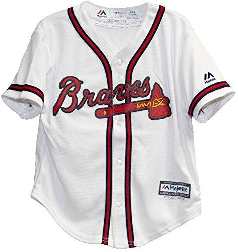 Majestic Atlanta Braves Home White Coolbase Toddler Jersey (4T) Atlanta Braves Home White Jersey