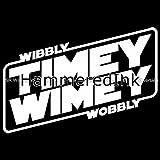 Wibbly Wobbly Timey Wimey Dr Who Die Cut Vinyl Car Decal Window Sticker