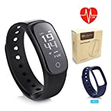 Fitness Tracker Watch Continuours HR Monitor - MARNUR IP67 Waterproof Activity Tracker Sleep Monitor Pedometer Calorie Counter Call - SMS Remind Connected GPS tracker Smart Wristband for Android IOS
