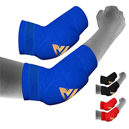 RDX MMA Elbow Support Brace Sleeve Pads Guard Bandage Elasticated Shield Protector Elbow Guard