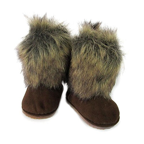 Fur Mukluks (Doll Shoes for 18 inch Dolls,Rabbit Fur Covered Snow Winter Boots Fits American Girl AG Doll)