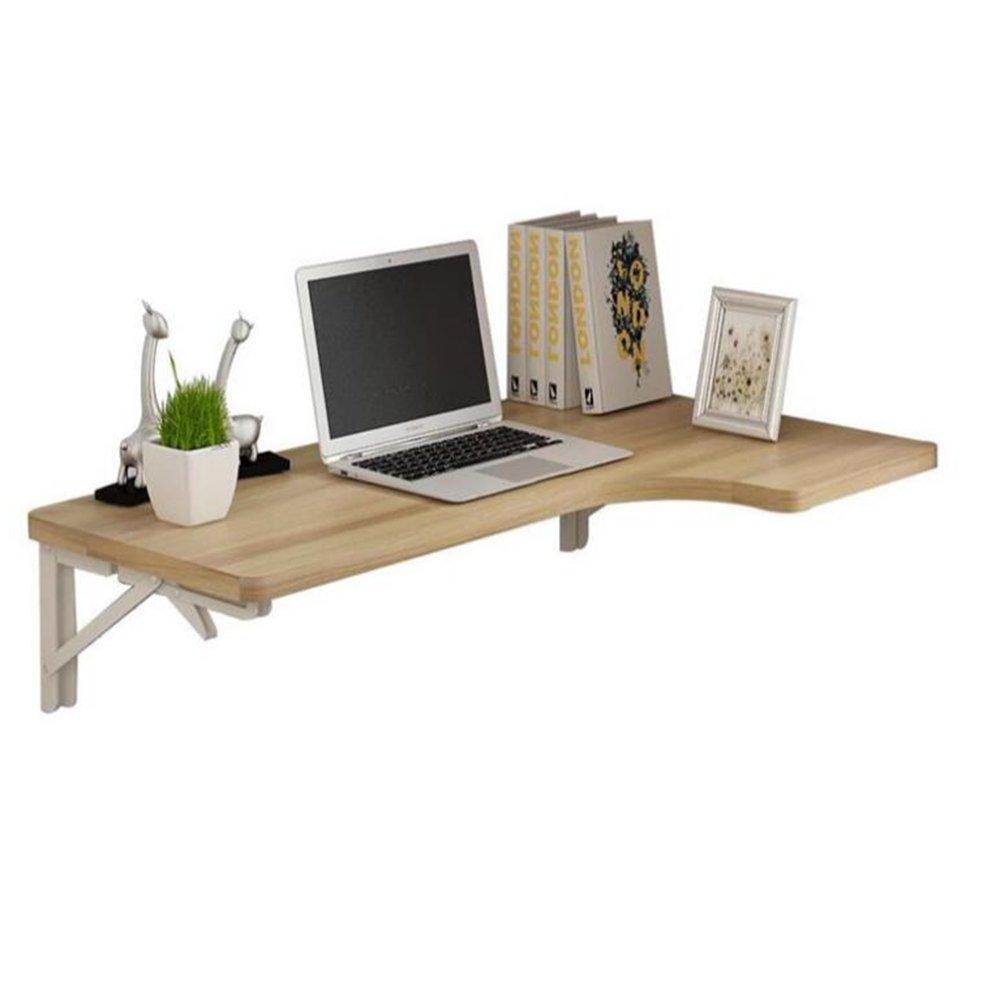 Dongy Table Pliante à Montage Mural Table à Manger Drop Leaf Table de Travail Ordinateur Portable (5 Couleurs, 4 Tailles) (Couleur : Red, Taille : 80 * 40cm)