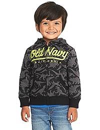 Adorable Fleece Hoodie Dino Logo for Toddler Boys! Old Navy