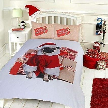 Santa Friends,Double Sleepdown Christmas Santa Reversible Duvet Quilt Cover And Pillowcases Set Duvets & Duvet Covers