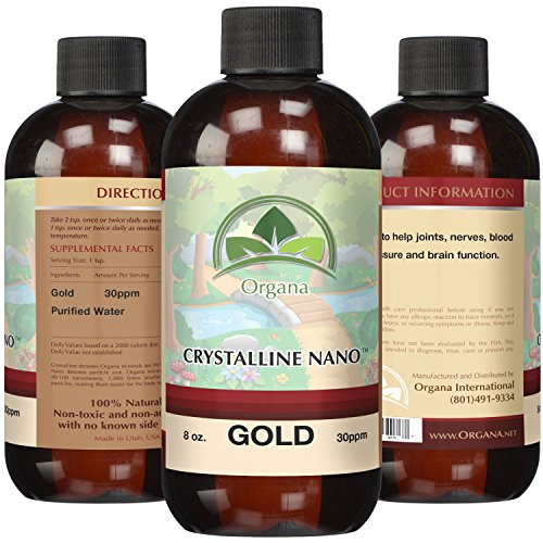 The BEST Nano Colloidal Gold Mineral - 30 Parts Per Million - Colloidal Minerals - Liquid Colloidal Gold (30 PPM, 8 Ounces)