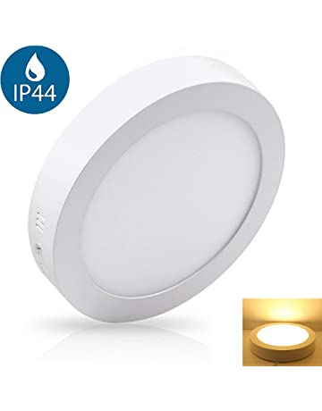 Lampara de techo circular con superficie led, 12W, 3000K, blanco cálido