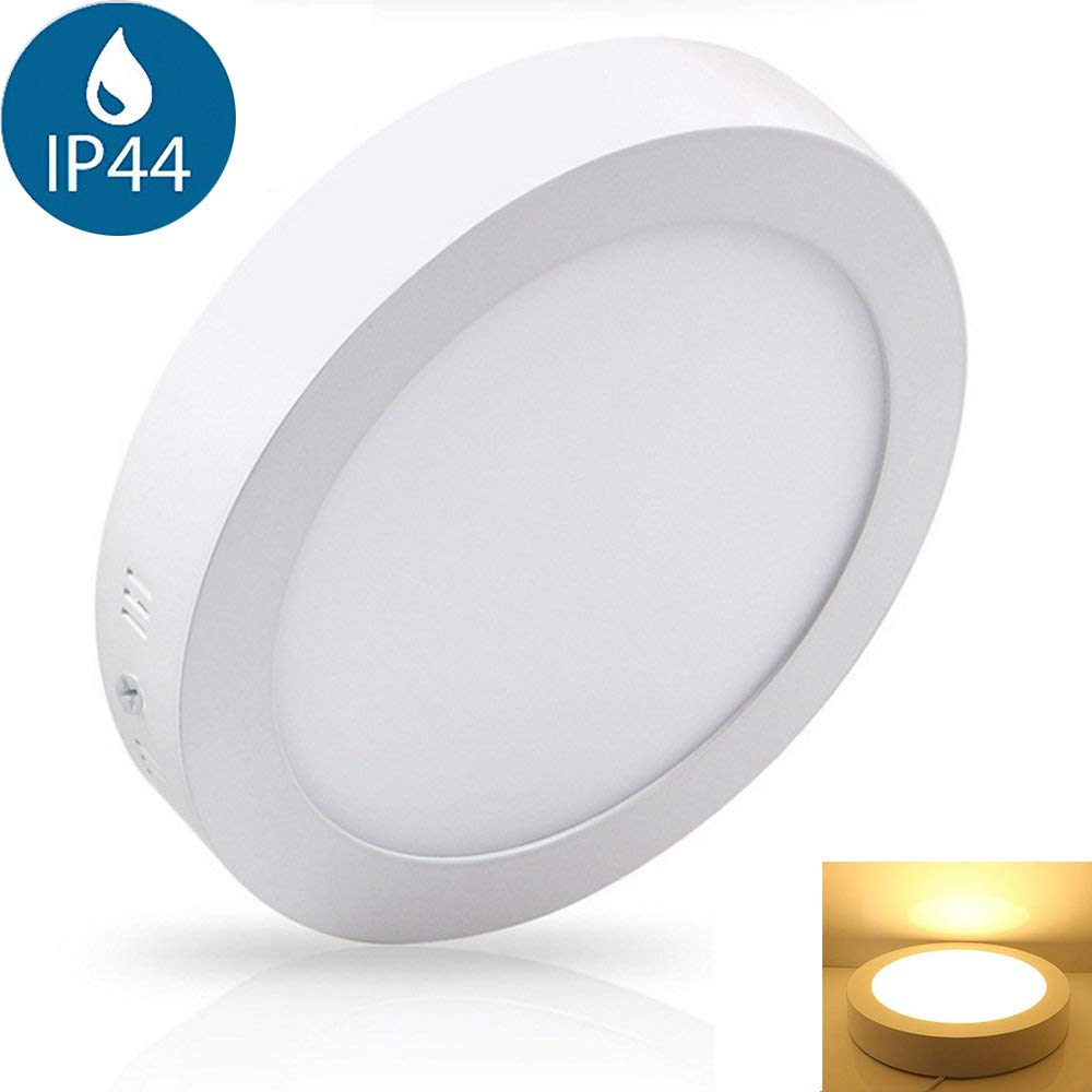 6W Surface Mounted Led Ceiling Light Fittings (Waterproof IP44), 6000K Cool White. Led Bathroom Light Ceiling for Kitchen, Hallway, Living Room. Soft Daylight Flush Mounted Ceiling Lights.