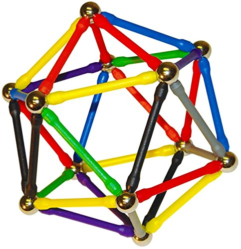 (Magz 178 Magnetic Building Set Consisting of 104 Magnetized Rods and 74 Steel Balls)