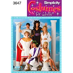 Simplicity Sewing Pattern 3647 Misses Men and Teen Costumes A (XS-S-M-L-XL)