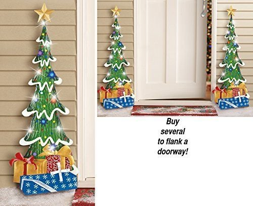 Outdoor Lighted Topiary Trees - 8
