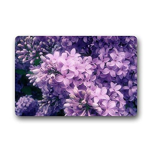 TSlook Doormat Purple Lilac Flower Indoor/Outdoor/Front Welcome Door Mat(30