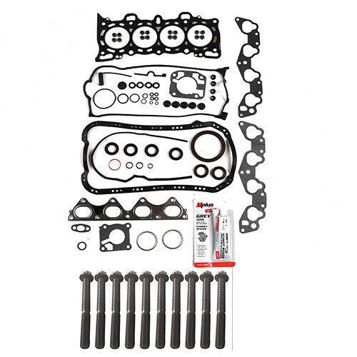 Machine Supplies Fit 92-95 Honda Civic del Sol 1.5L 1.6L Full Gasket Head Bolts Kit D15Z1 D16Z6