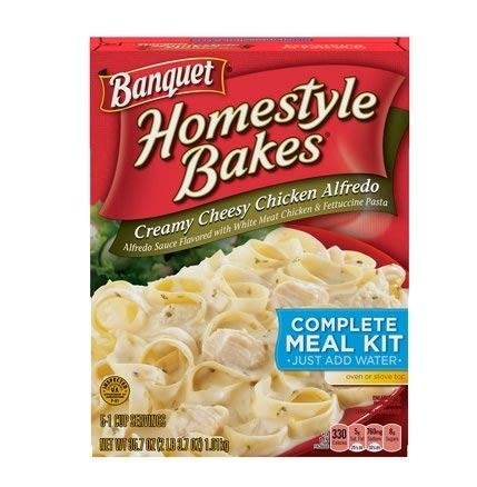 Banquet, Homestyle Bakes, Creamy Cheesy Chicken Alfredo, 35.7oz Box (Pack of 3) ()
