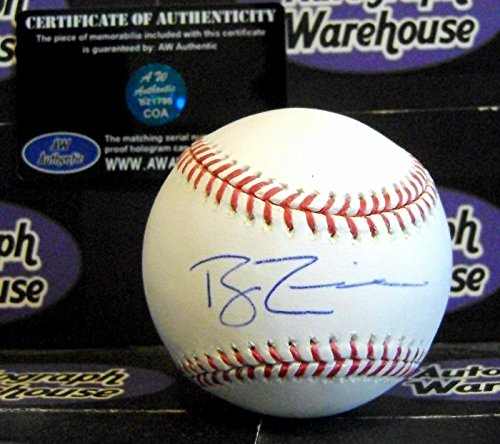 Ryan Zimmerman autographed baseball (OMLB Washington Nationals All Star University of Virginia) AW Certificate of Authenticity Hologram