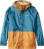 Marmot Kids Boy's PreCip¿ Eco Jacket (Little Kids/Big Kids) Late Night/Aztec Gold X-Large