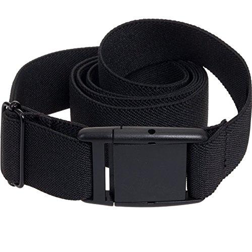 Ladies Black Belt (Silver Lilly Womens Invisible Belt - Elastic Adjustable No Show Belt)