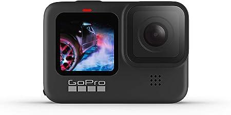 TALLA Sin tarjeta. GoPro HERO9 Black - Cámara de acción sumergible con pantalla LCD delantera y pantalla táctil trasera, vídeo 5K Ultra HD, fotos de 20MP, transmisión en directo en 1080p, sin tarjeta