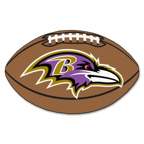 FANMATS NFL Baltimore Ravens Nylon Face Football Rug