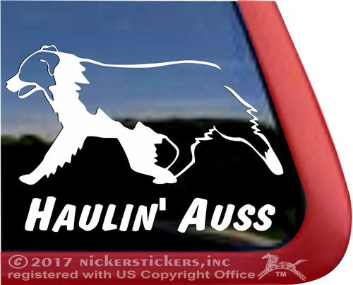 Haulin Australian Shepherd Window Sticker